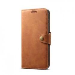 Lenuo kožené flipové puzdro pre Samsung Galaxy S10 - hnedé