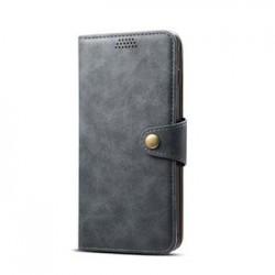Lenuo kožené flipové puzdro pre Samsung Galaxy J4 Plus - šedé