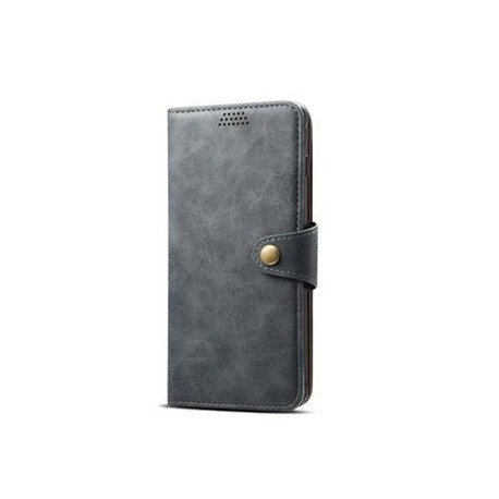 Lenuo Leather Flip Case for Samsung Galaxy J4 Plus - Gray