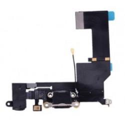 Apple iPhone SE - złącze ładowania + przewód elastyczny - czarny