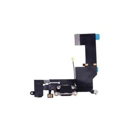 Apple iPhone SE - Charging connector + flex cable - black