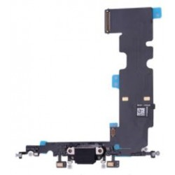 Apple iPhone 8 Plus - Charging connector + flex cable - black