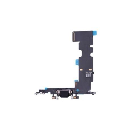 Apple iPhone 8 Plus - Charging connector + flex cable - black