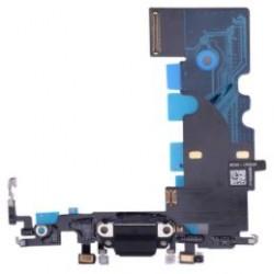 Apple iPhone 8 - Nabíjací konektor + flex kábel - čierna