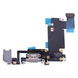 Apple iPhone 6S Plus - złącze ładowania + przewód elastyczny - czarny