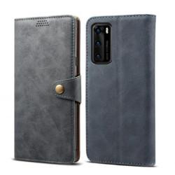 Huawei P40-flipové pouzdro Lenuo Leather,šedé