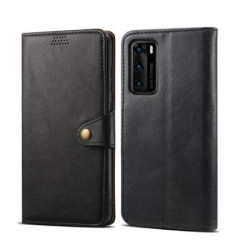 Lenuo Leather flip case for Huawei P40, black