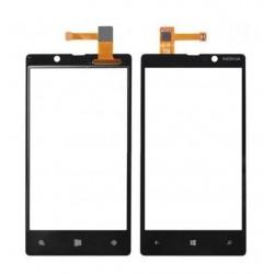 Nokia Lumia 820 - Černá dotyková vrstva, dotykové sklo, dotyková deska + flex - OEM