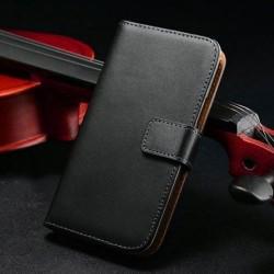 Samsung Galaxy S4 i9500 - Pouzdro Wallet - Černá kůže