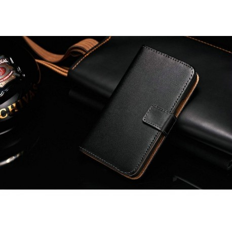 Samsung Galaxy S2 i9100 - Wallet Case - Black Leather