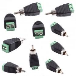 Redukcja / Złącze męskie RCA Cinch - DVB-T - CCTV Video AV