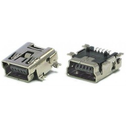 Konektor Mini USB Typ B Female 5Pin SMT SMD Socket