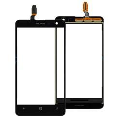 Nokia Lumia 625 - Černá dotyková vrstva, dotykové sklo, dotyková deska + flex - OEM