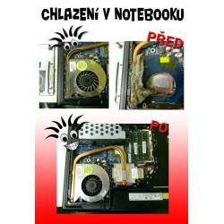 Vyčistenie notebooku a chladiacej sústavy