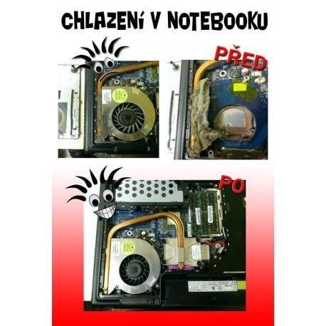 Vyčištění notebooku a chladicí soustavy