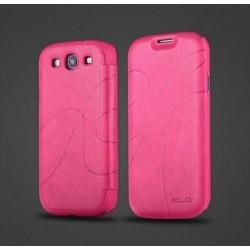 Samsung Galaxy S3 i9300, S3 NEO i9301 - Pouzdro Flip - Tmavě růžová kůže