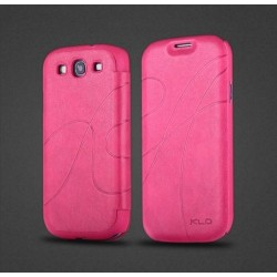 Samsung I9300 Galaxy S3, S3 i9301 NEO - Flip Case - Dark pink leather