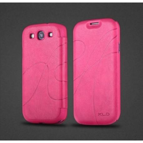 Samsung Galaxy S3 i9300, S3 NEO i9301 - Pouzdro Flip - Tmavě modrá kůže