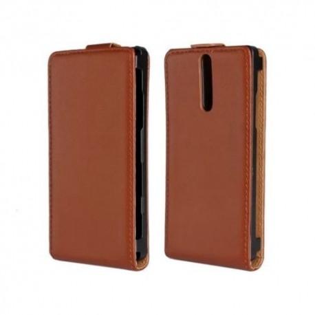 Sony Xperia S LT26i - Pouzdro Wallet Vertical Flip - Hnědá kůže