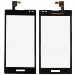 LG Optimus L9 P760 - Černá dotyková vrstva, dotykové sklo, dotyková deska + flex - OEM