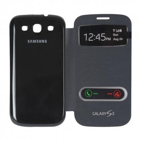 Samsung Galaxy S3 i9300 - Čený flip S-View