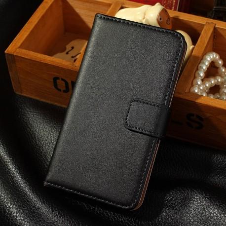 Samsung Galaxy S5 i9600 - Pouzdro Flip Wallet - Černá kůže