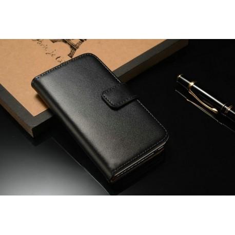 Apple iPhone 4 / 4S Černé kožené pouzdro