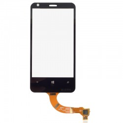 Nokia Lumia 620 - Černá dotyková vrstva, dotykové sklo, dotyková deska + flex - OEM