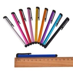 Stylus - dotykové pero - 10 cm, Barva: Stříbrná